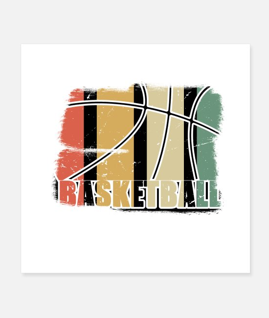 Womens Basketball Posters - Retro Basketball Vintage Basketball - Posters white