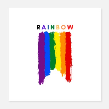 Painter Rainbow Paint, Love All - Poster