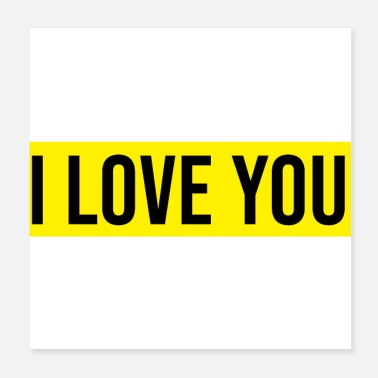 Tick i love you relationship couple romance tick logo yellow - Poster
