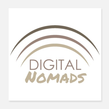 Worker Digital Nomads Wifi Remote Worker Gift - Poster