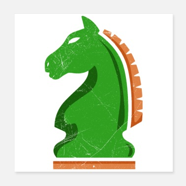 Knighthood Chess knight horse chess player gift idea - Poster
