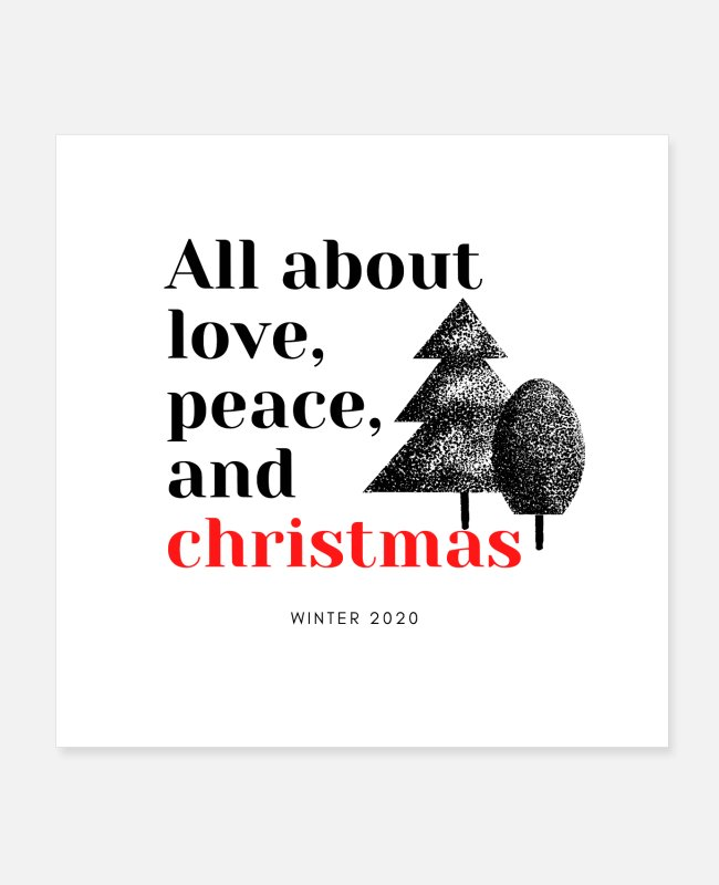 Happy New Year Posters - All about christmas, peace and love - Posters white