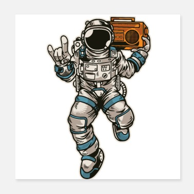 Radio Astronaut radio space - Poster