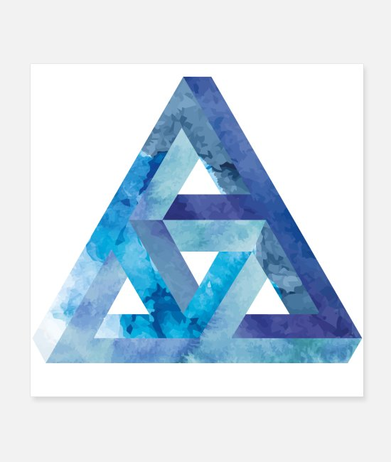 Crazy Construction Posters - Optical illusion triangle Escher - Posters white