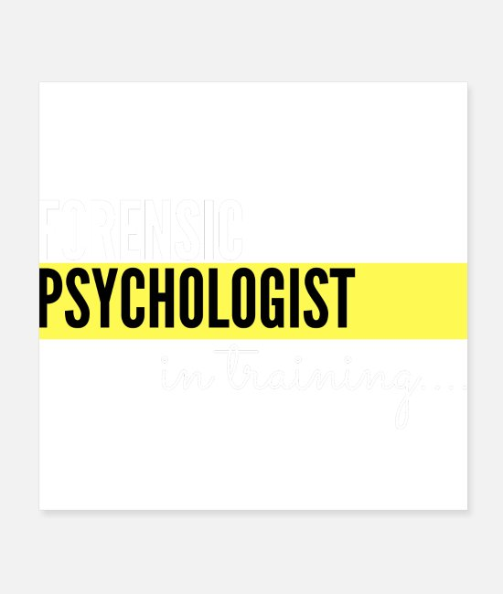 Therapy Posters - Forensic Psychologist in training - Posters white