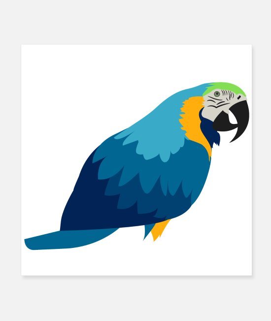 Cheeseburger Poster - Cute Parrot design perfect as a Gift - Poster Weiß