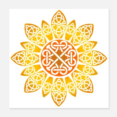 Celtic Celtic Sunflower Celtic Knot Gift - Poster