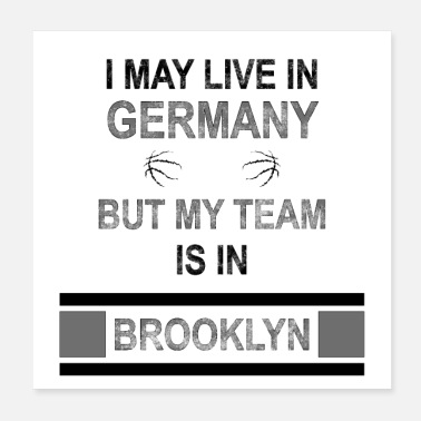 Fanshirt My team is in Brooklyn | Nets fan design - Poster