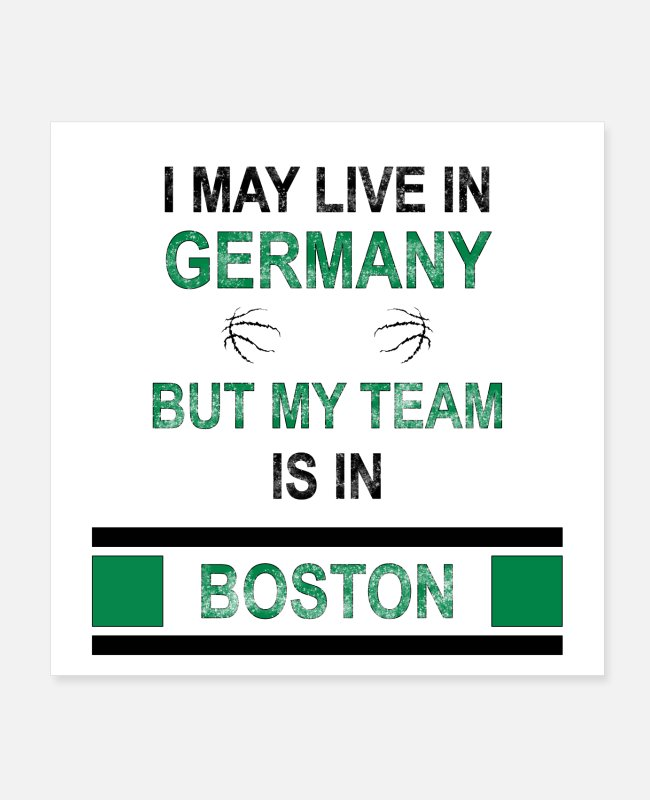Free Throw Posters - My team is in Boston | Celtics fan design - Posters white