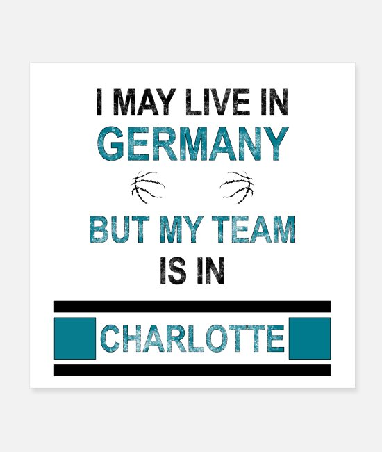 Charlotte Posters - My team is in Charlotte | Hornet's fan design - Posters white