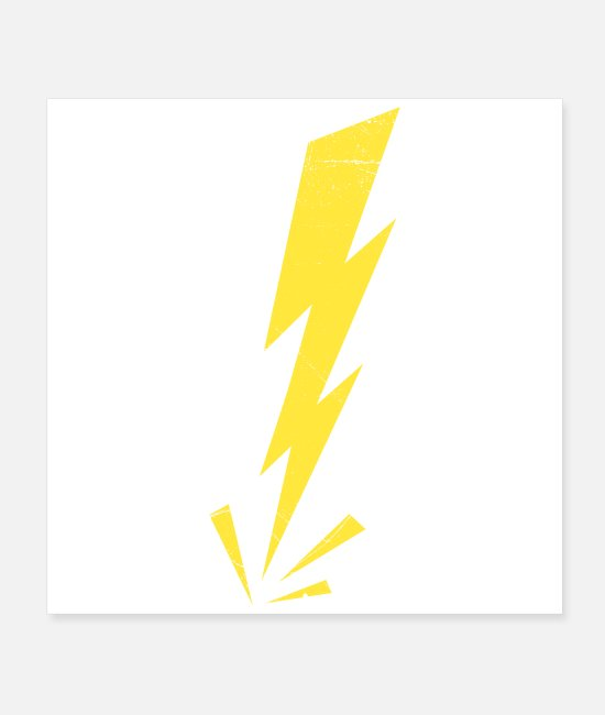 Superhero Posters - Lightning thunder lightning angry warning gift idea - Posters white