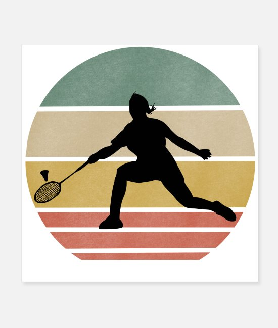 Tyskland Posters - Tennisspiller retro - Posters hvid
