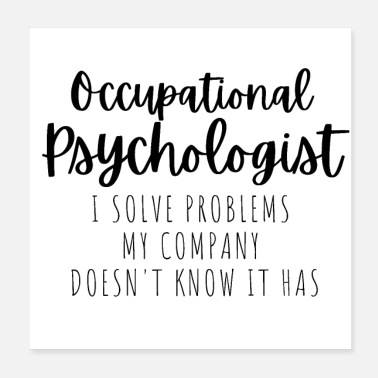 Occupation Occupational Psychologist - Poster