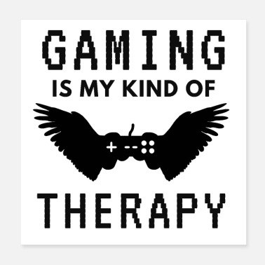 Spil Gamer Therapy Controller Pixel Gift - Poster