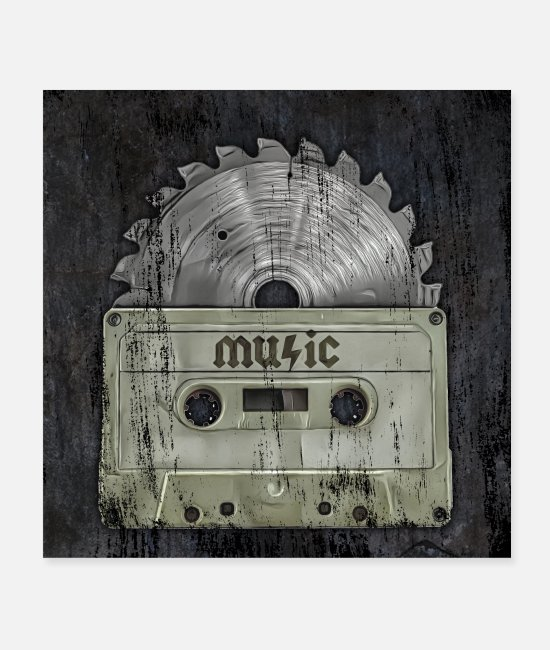 Metalhead Posters - metal music tape - Posters white