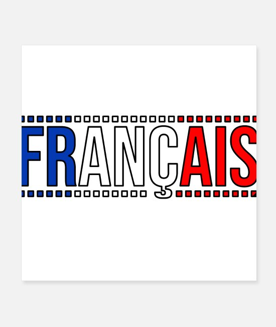 Festival Posters - French tricolor flag France country logo - Posters white