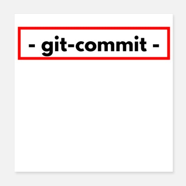 Amendment git commit font white black red - Poster
