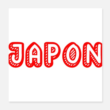 Asien Adj Japan land logo japansk gave asien asiat - Poster
