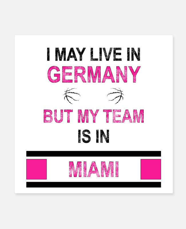 National Basketball League Posters - My team is in Miami | Heat fan design - Posters white