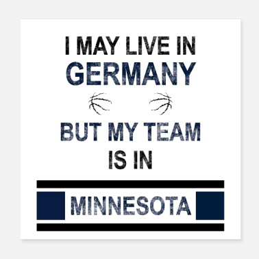 Minnesota Mijn team is in Minnesota | Timberwolves-ventilatorontwerp - Poster