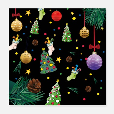 Christmassy Christmas decorations | also posters - Poster