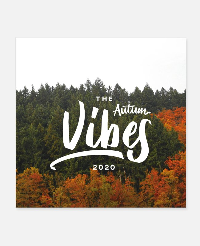Mountains Posters - Autumn forest - vibes - Posters white
