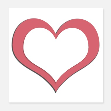 Shape Heart heart shaped shape icon - Poster