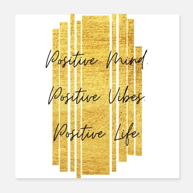 Positieve Positieve geest. Positieve vibes. Positief leven. - Poster