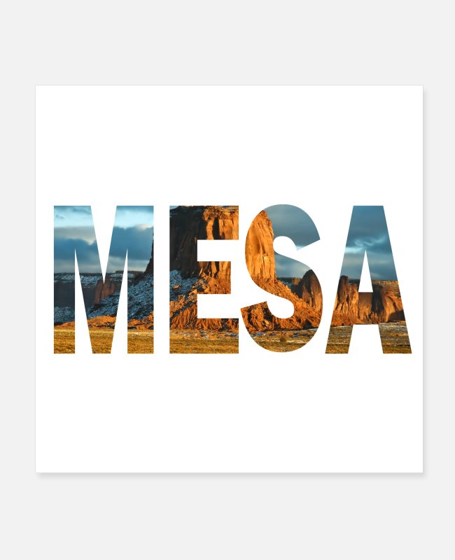 Walter Posters - Mesa Arizona Rock - Posters white