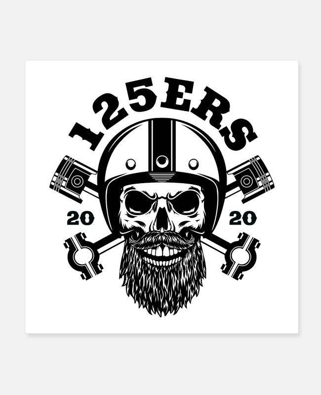 A1 Posters - 125ers - The biker brand for all A1 drivers - Posters white