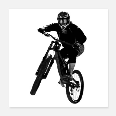 Mountainbiking MTB mountainbiking grafisk gave - Poster