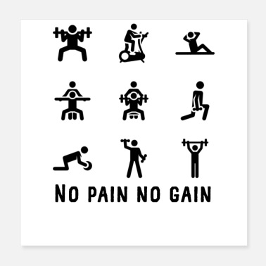 Pain No pain no gain - Poster