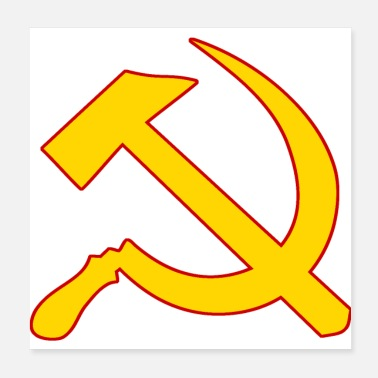 Hammer Hammer and sickle | Hammer and sickle Marxism - Poster