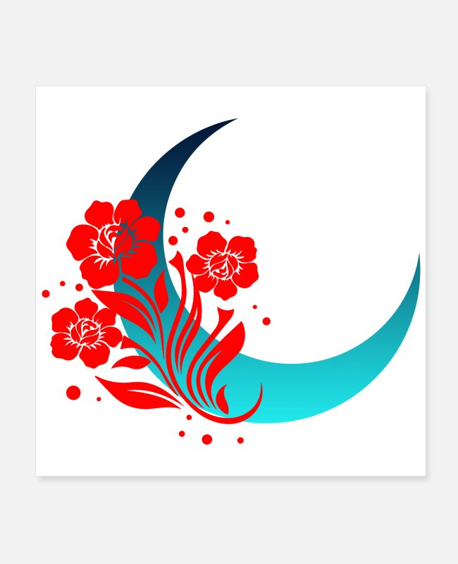 Christmas Posters - Moon flower moon light tribal tattoo gift - Posters white