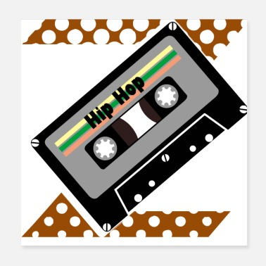 Audio Idea de regalo de una camiseta de cassette de audio retro - Poster