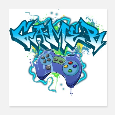 Game Over Gamer Gaming Graffiti - Poster