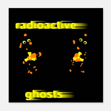 Nucleaire PENDECH Radioactieve Humor Comic Ghosts. - Poster