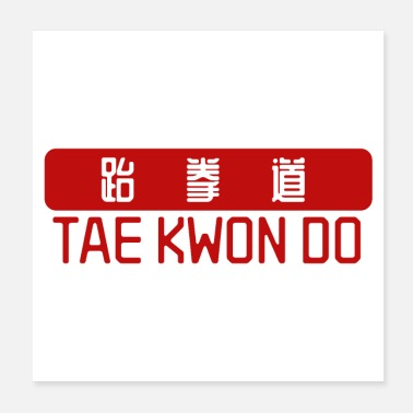 Tae Kwon Do Martial Arts Tae Kwon Do 跆拳' Cadeau Idee - Poster
