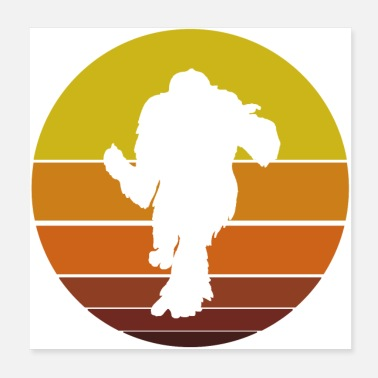 Silhouette Bigfoot Silhouette - Poster