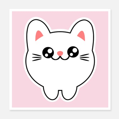 Kawaii Cute animals - chibi kawaii cat kitten - Poster