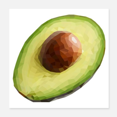 Healthy Cuban avocado - Poster 20x20 cm