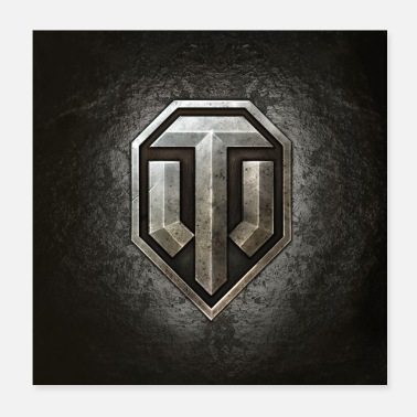 Logotipo de World of Tanks WoT - Póster 20x20 cm