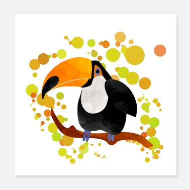 Animaux Conception d'affiche Toucan - Poster