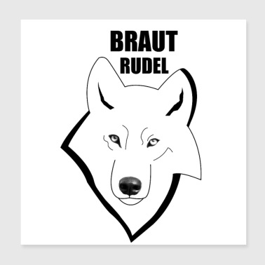 Hen party bruden pack Wolf - Poster 20x20 cm