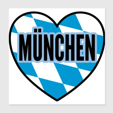 München by gave - Poster 20x20 cm