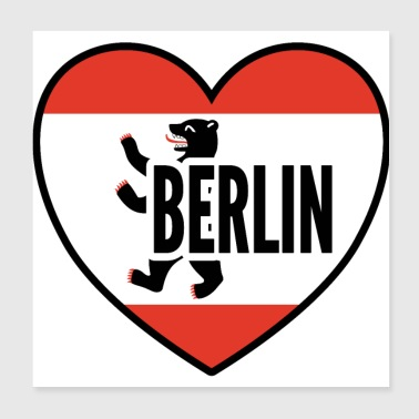 Berlin city gift - Poster 20x20 cm