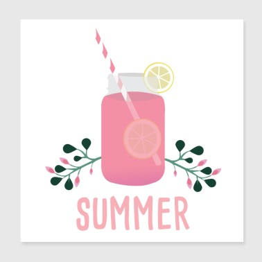 Summer cocktail holiday - Poster 20x20 cm