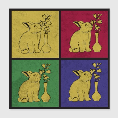 Bunnies pop art - Poster 20x20 cm