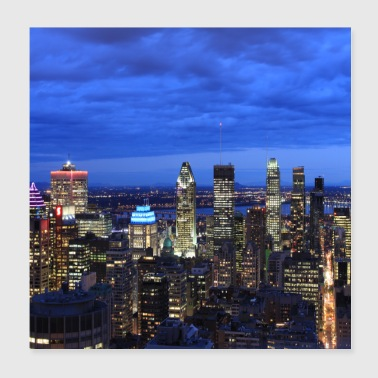 Montreal skyline at night - Poster 20x20 cm