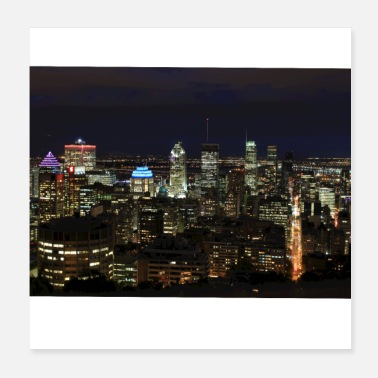 Kanada skyline montreal at night canada - Poster 20x20 cm